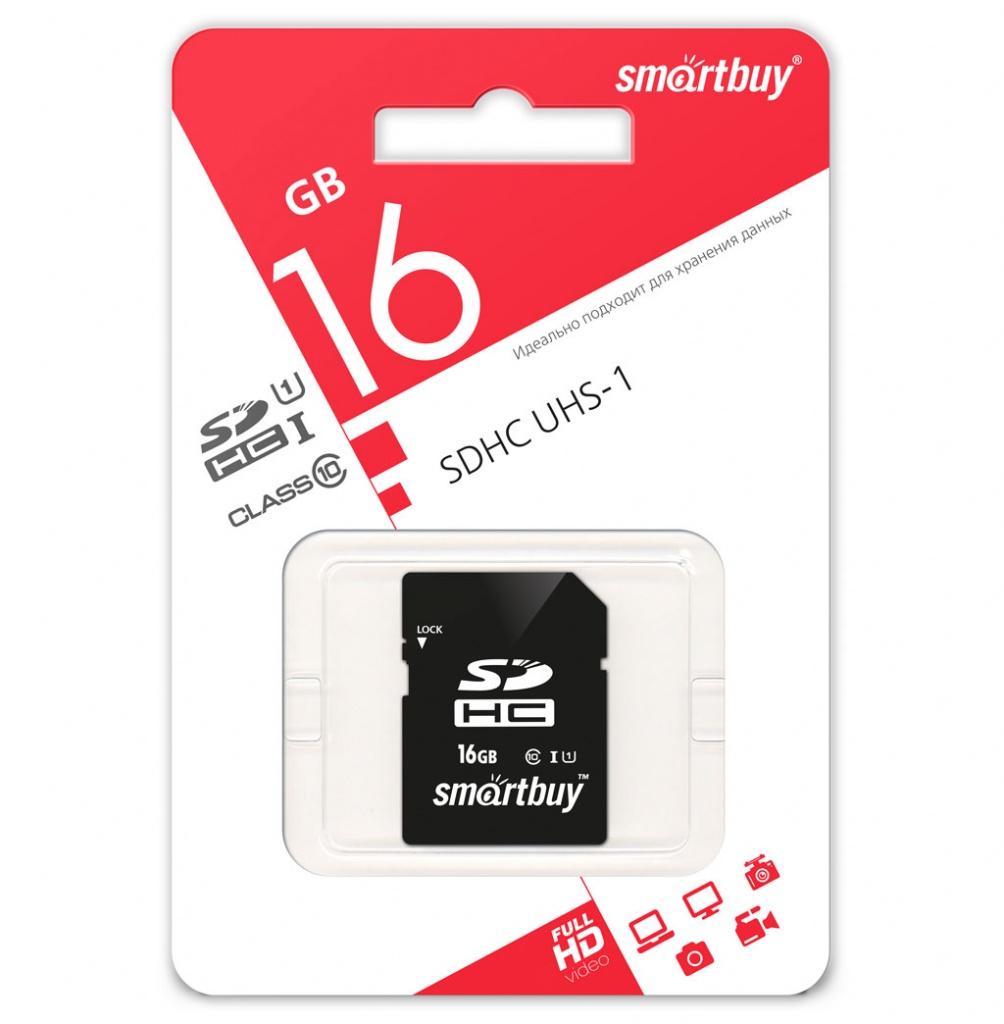 SDHC карта памяти Smartbuy 16GB UHS-I Class 10 оптом