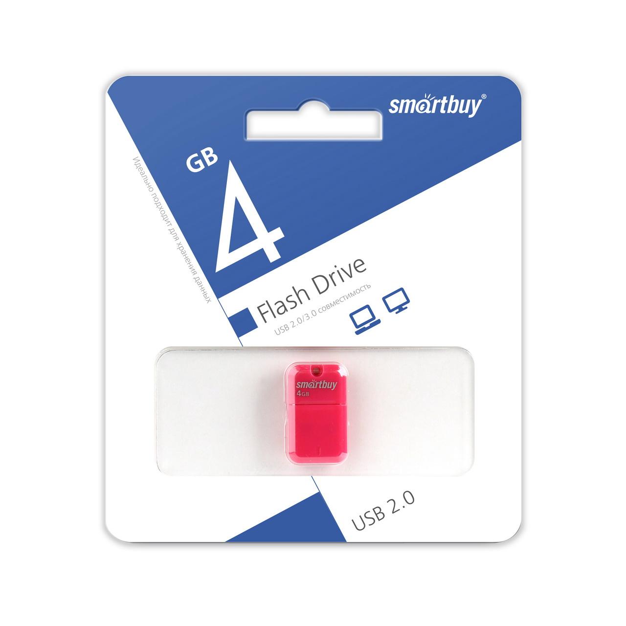 USB 2.0 флэш-диск Smartbuy ART Pink 4GB оптом