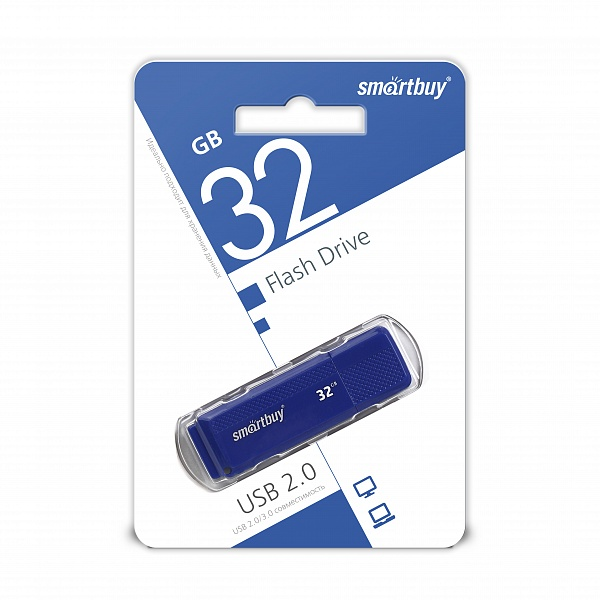 USB 2.0 флэш-диск Smartbuy Dock Blue 32GB оптом
