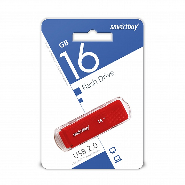 USB 2.0 флэш-диск Smartbuy Dock Red 16GB оптом