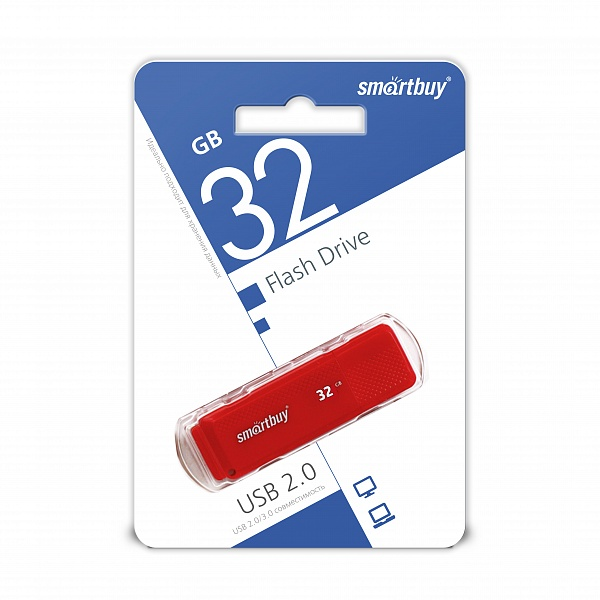 USB 2.0 флэш-диск Smartbuy Dock Red 32GB оптом
