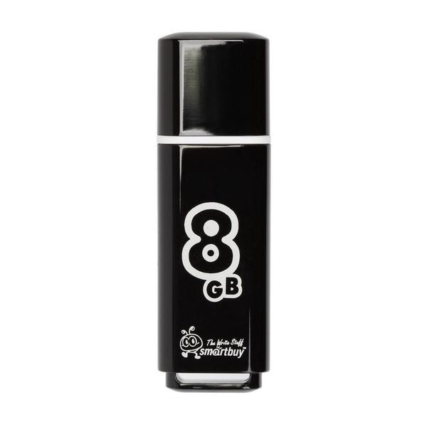 USB 2.0 флэш-диск Smartbuy Glossy Series Black 8GB
