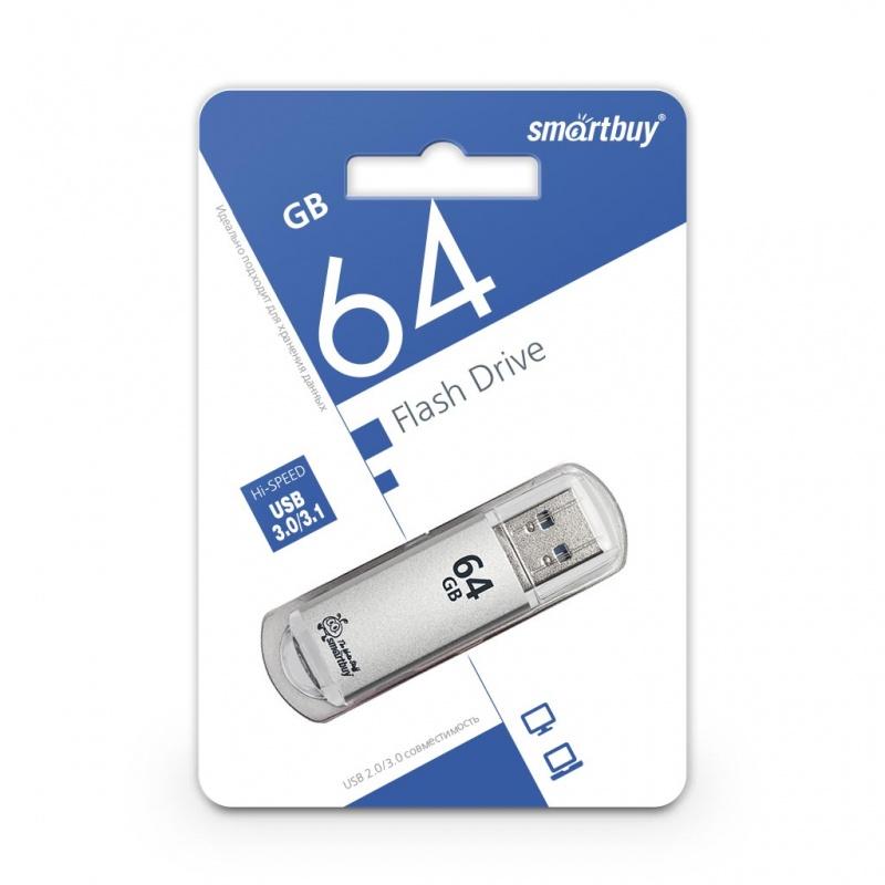USB 3.0 флэш-диск Smartbuy V-Cut Silver 64GB оптом