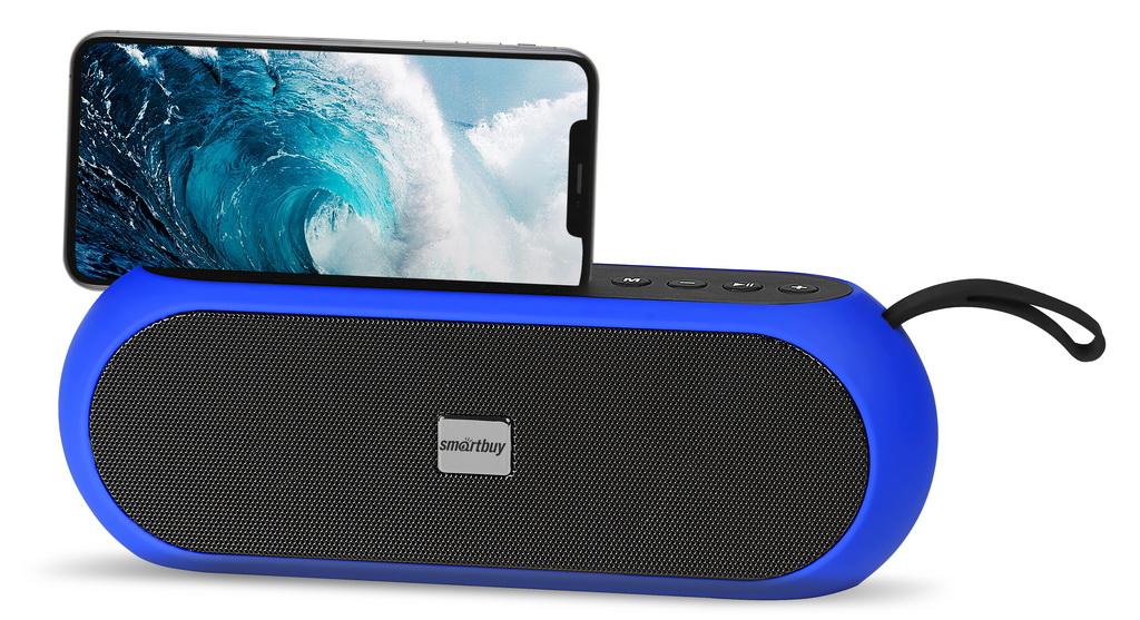 Акустическая система Smartbuy RADIO ACTIVE черно-синяя оптом