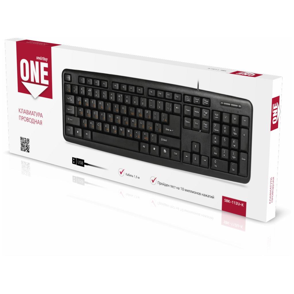 Клавиатура проводная Smartbuy ONE 112 USB черная