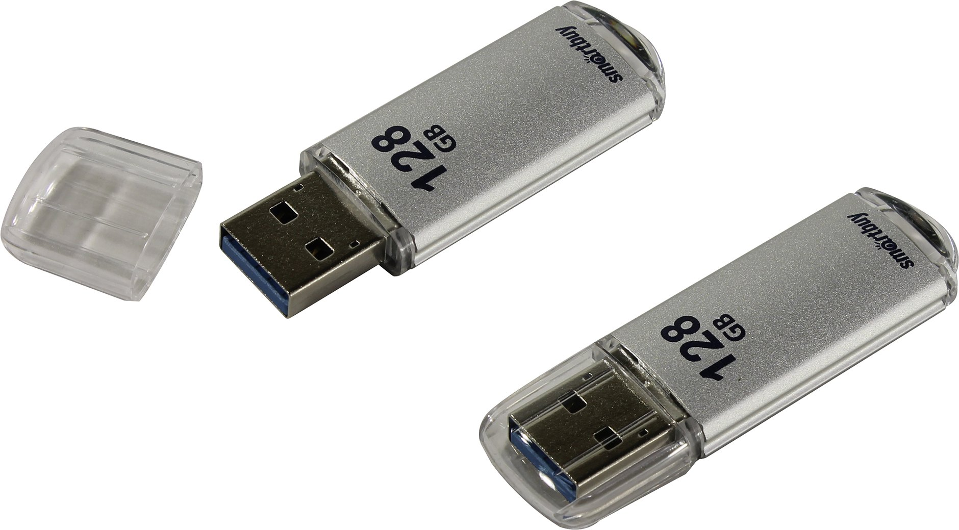 USB 3.0 флэш-диск Smartbuy V-Cut Silver 128Gb