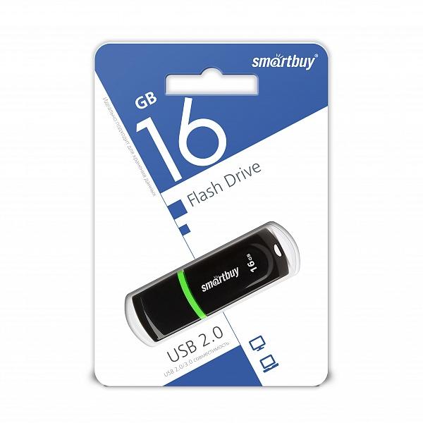 USB 2.0 флэш-диск Smartbuy Paean Black 16GB оптом