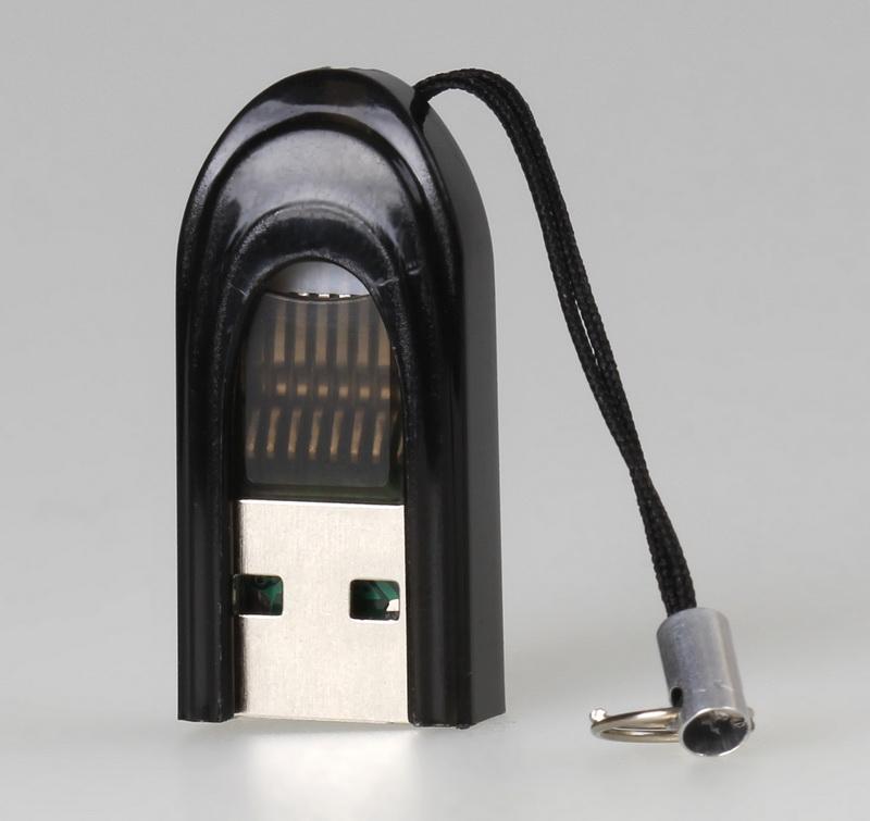 Картридер Smartbuy 710, USB 2.0 - MicroSD, черный оптом