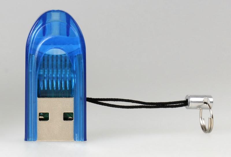 Картридер Smartbuy 710, USB 2.0 - MicroSD, голубой
