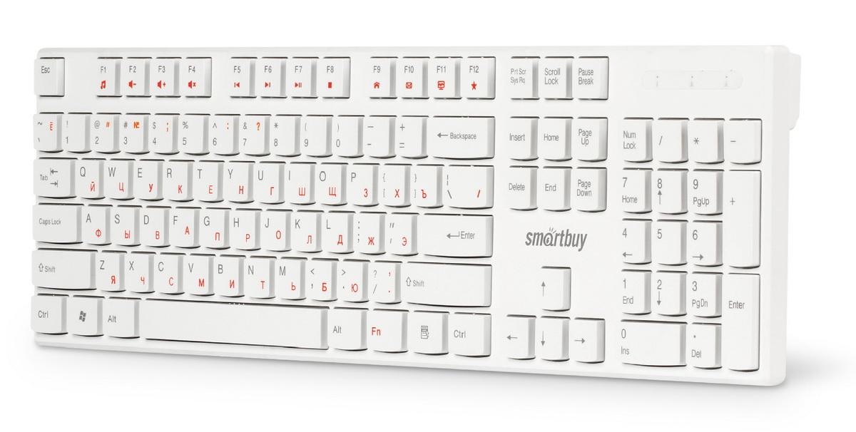 Клавиатура проводная мультимедийная Smartbuy ONE 238 белая оптом
