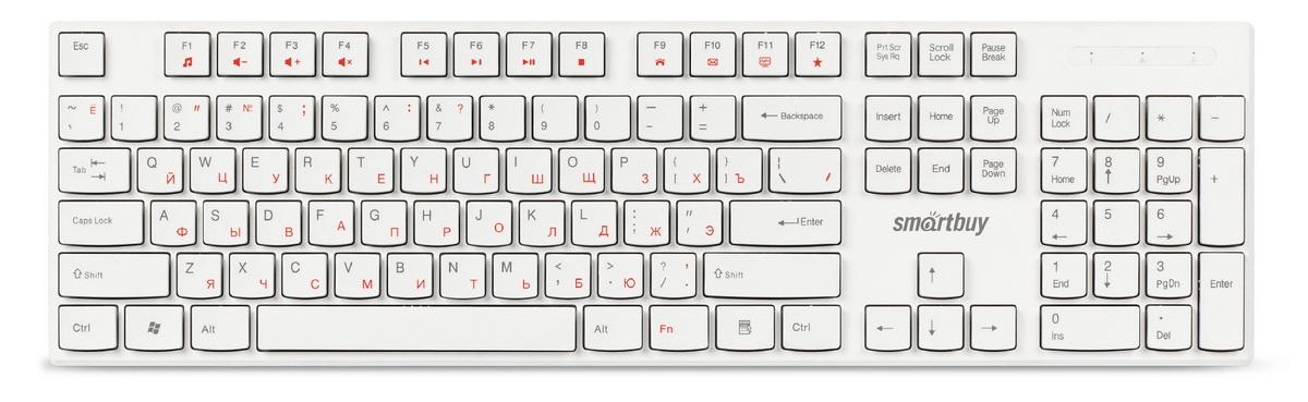 Клавиатура проводная мультимедийная Smartbuy ONE 238 белая