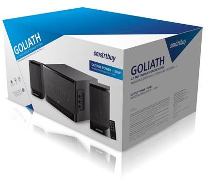 Мультимедийный музыкальный центр 2.1 Smartbuy GOLIATH, черный