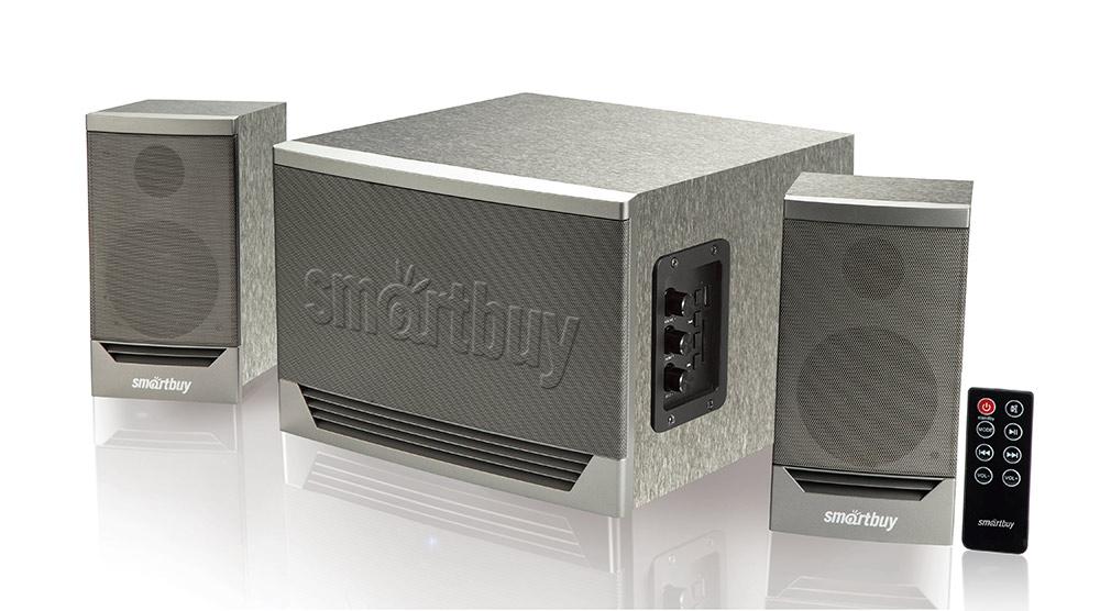 Мультимедийный музыкальный центр 2.1 Smartbuy GOLIATH серый оптом